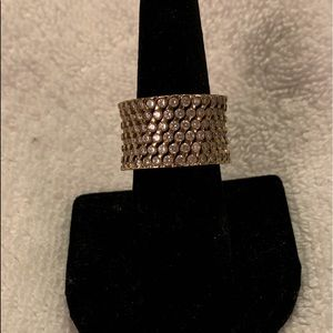 🆕Gold plated ring with stones. Size 8.5